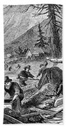 Gold Mining, 1853 Beach Towel