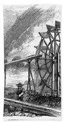 Gold Mining, 1860 Beach Towel