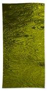 Gold Rain Droplets Beach Towel