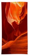 Gold Red And Orange Abstract Beach Towel