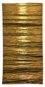 Gold Sea Beach Towel