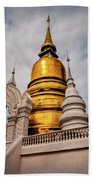 Gold Stupa Beach Towel