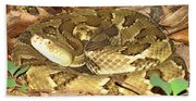 Gold Viper Beach Towel