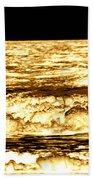 Gold Waves Beach Towel