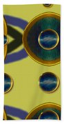 Golden Abstracte Beach Towel