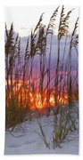 Golden Amber Beach Towel