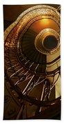 Golden And Brown Spiral Stairs Beach Towel