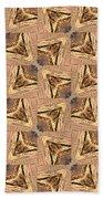Golden Arrowheads Beach Towel