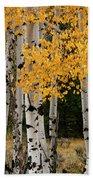 Golden Aspen Beach Towel