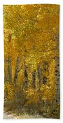 Golden Aspen Beach Towel