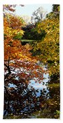 Golden Autumn Trees Beach Towel