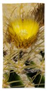 Golden Barrel Blossom Beach Towel