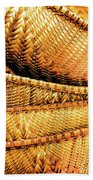 Golden Baskets Beach Towel by Donna Lee