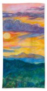 Golden Blue Ridge Sunset Beach Towel