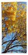 Golden Boughs Beach Towel