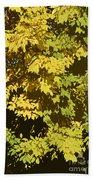 Golden Branches Beach Towel