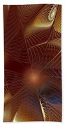 Golden Bronze Swirl Beach Towel
