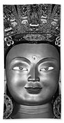 Golden Buddha Monochrome Beach Towel