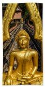 Golden Buddhas Beach Towel