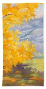 Golden California Sycamores Beach Towel