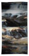 Golden Cascade Beach Towel
