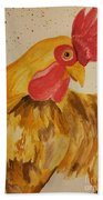 Golden Chicken Beach Towel