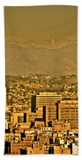 Golden City Hall La Beach Towel