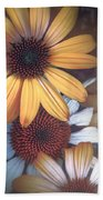 Golden Daisies Beach Towel