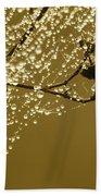 Golden Dewdrops Beach Towel