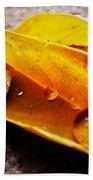 Golden Droplets Beach Towel