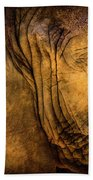 Golden Elephant Beach Towel