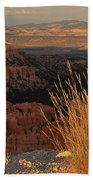 Golden Evening Light Bryce Canyon 1 Beach Towel