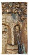 Golden Faces Of Buddha Beach Towel