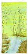 Golden Fall Day  Beach Towel