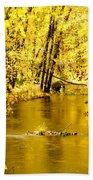 Golden Fall  Beach Towel