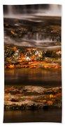 Golden Falls Beach Towel