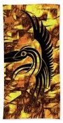 Golden Flight Contemporary Abstract Beach Towel