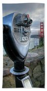 Golden Gate Binoculars Beach Towel