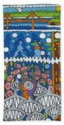 Golden Gate Bridge Beach Towel by Rojax Art