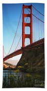 Golden Gate Bridge Sausalito Beach Towel by Doug Sturgess