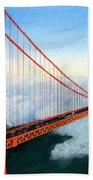Golden Gate Bridge Sunset Beach Towel