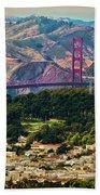 Golden Gate Bridge - Twin Peaks Beach Towel