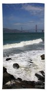 Golden Gate Bridge With Surf Beach Towel