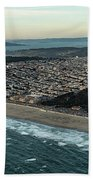 Golden Gate Park And Ocean Beach In San Francisco Beach Sheet