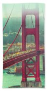 Golden Gate Portrait Beach Towel