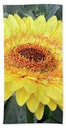 Golden Gerbera Daisy Beach Towel