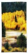 Golden Glow Beach Towel