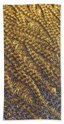 Golden Grains - Hoarfrost On A Solar Panel Beach Towel