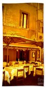 Golden Italian Cafe Beach Towel