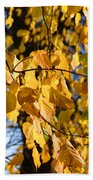 Golden Leaves Beach Towel